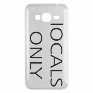 Etui na Samsung J3 2016 Locals only