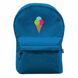 Plecak z przednią kieszenią Lody - PrintSalon