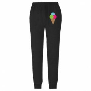 Męskie spodnie lekkie Lody - PrintSalon