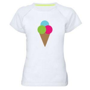 Damska koszulka sportowa Lody - PrintSalon