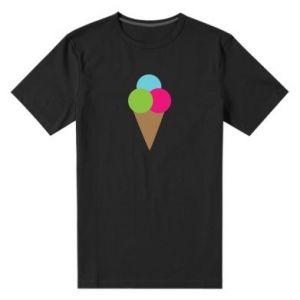 Męska premium koszulka Lody - PrintSalon