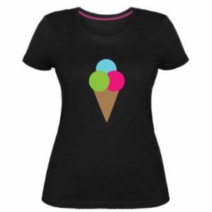 Damska premium koszulka Lody - PrintSalon