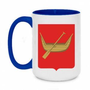 Two-toned mug 450ml Lodz coat of arms