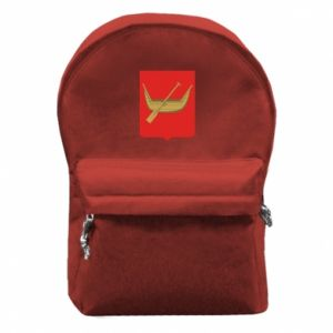 Backpack with front pocket Lodz coat of arms