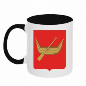 Two-toned mug Lodz coat of arms