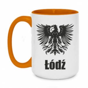 Two-toned mug 450ml Lodz