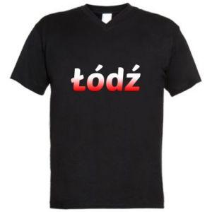 Męska koszulka V-neck Łódź