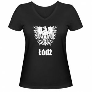 Damska koszulka V-neck Łódź