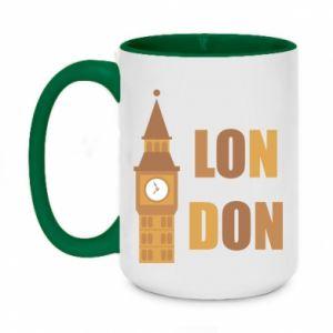 Two-toned mug 450ml London