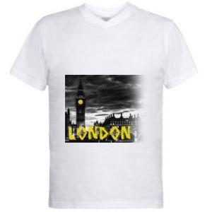 Męska koszulka V-neck London