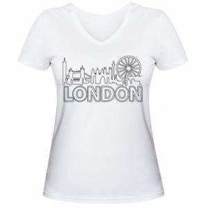 Damska koszulka V-neck London