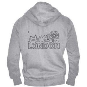 Męska bluza z kapturem na zamek London