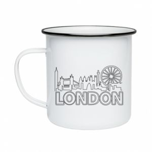 Enameled mug London