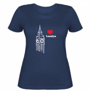 Damska koszulka Londyn, kocham cię