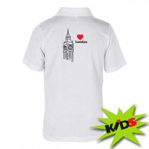 Dziecięca koszulka polo Londyn, kocham cię