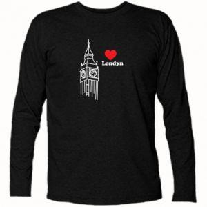 Koszulka z długim rękawem Londyn, kocham cię