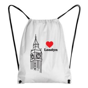 Plecak-worek Londyn, kocham cię