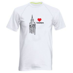 Męska koszulka sportowa Londyn, kocham cię