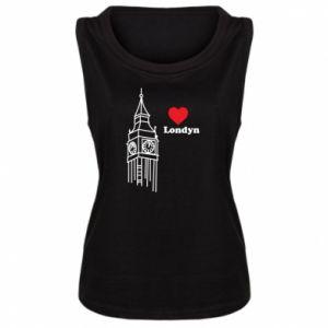 Damska koszulka bez rękawów Londyn, kocham cię