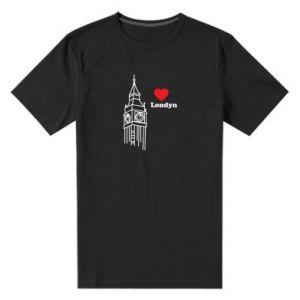 Męska premium koszulka Londyn, kocham cię