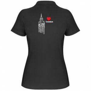 Damska koszulka polo Londyn, kocham cię