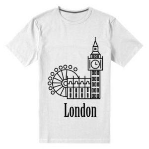 Męska premium koszulka Napis: London - PrintSalon