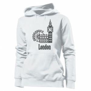 Women's hoodies Inscription: London