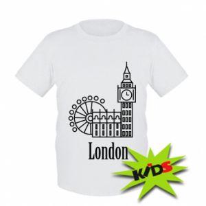 Kids T-shirt Inscription: London