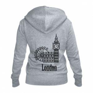 Damska bluza na zamek Napis: London - PrintSalon