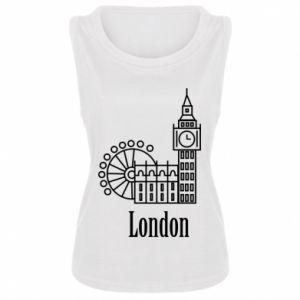 Damska koszulka Napis: London - PrintSalon