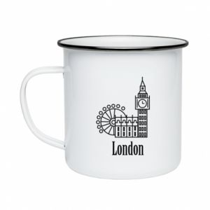 Kubek emaliowane Napis: London - PrintSalon