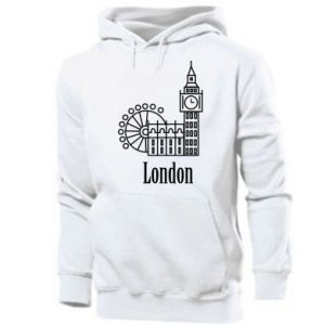 Men's hoodie Inscription: London