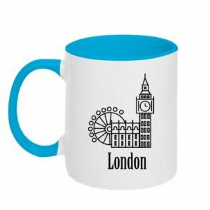 Kubek dwukolorowy Napis: London - PrintSalon