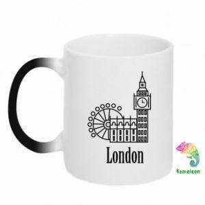 Kubek-kameleon Napis: London