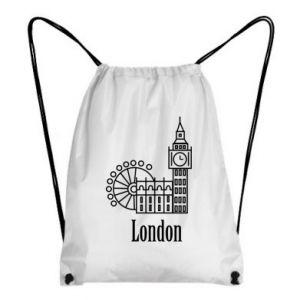 Plecak-worek Napis: London - PrintSalon