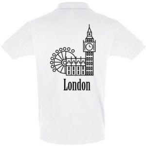 Koszulka Polo Napis: London