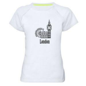 Damska koszulka sportowa Napis: London - PrintSalon
