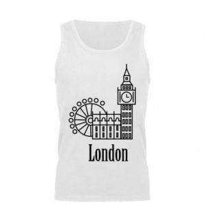 Męska koszulka Napis: London - PrintSalon