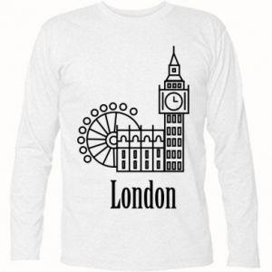 Koszulka z długim rękawem Napis: London - PrintSalon