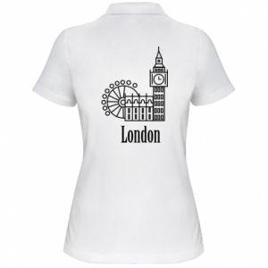 Women's Polo shirt Inscription: London