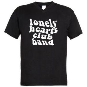 Męska koszulka V-neck Lonely hearts club band