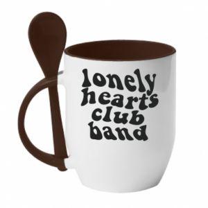Kubek z ceramiczną łyżeczką Lonely hearts club band