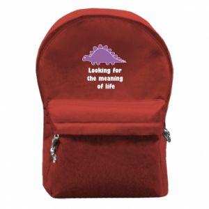 Plecak z przednią kieszenią Looking for the meaning of life