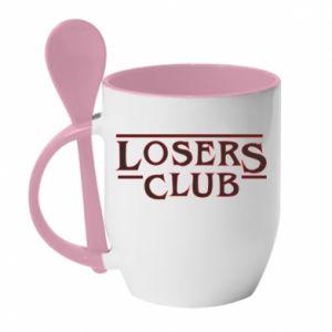 Kubek z ceramiczną łyżeczką Losers club