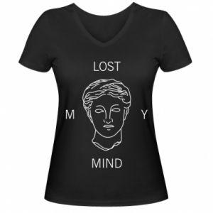 Damska koszulka V-neck Lost my mind