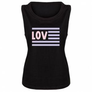 Damska koszulka bez rękawów Lov
