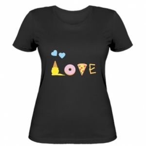 Women's t-shirt Love any food