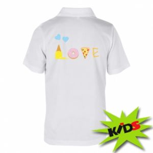 Dziecięca koszulka polo Love any food