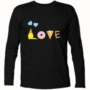 Koszulka z długim rękawem Love any food
