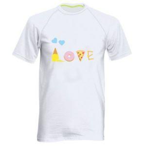Męska koszulka sportowa Love any food